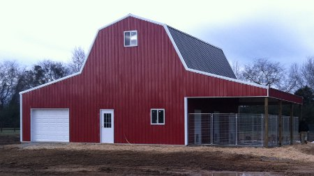 Amish pole barns manlius ny the amish structures for Gambrel barn prices
